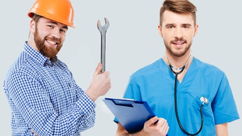 Being a Plumber vs. Being a Doctor - Net Worth Simulations