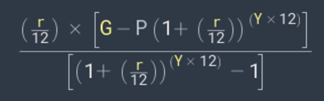 savings goal equation
