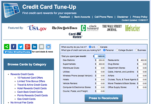 credit card tune up